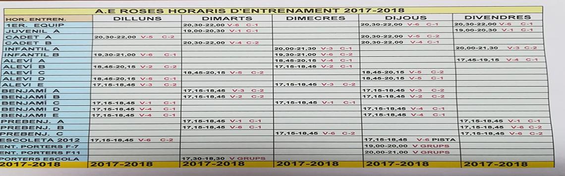 Comença una nova temporada 2017-2018