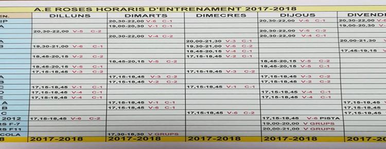 Horaris 2017-18